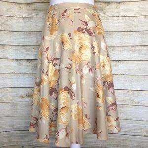 Banana Republic Silk A-line Skirt
